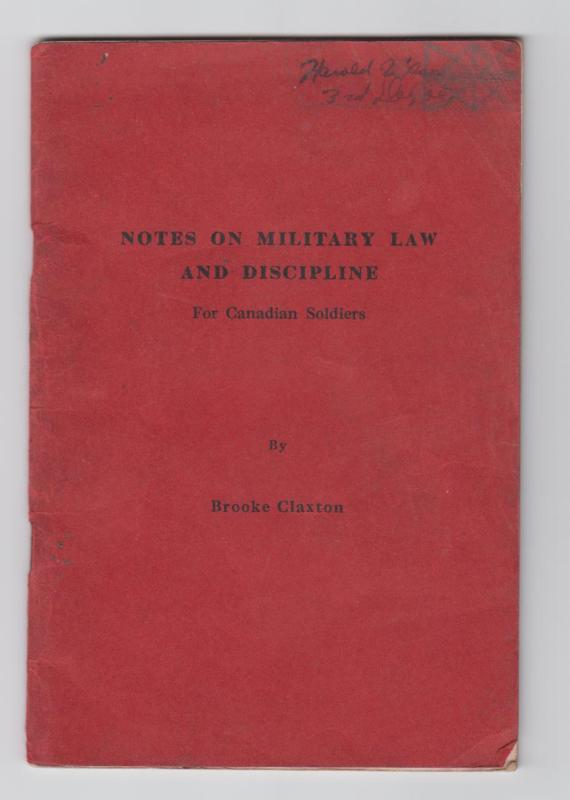 Image for Notes on Military Law and Discipline For Canadian Soldiers