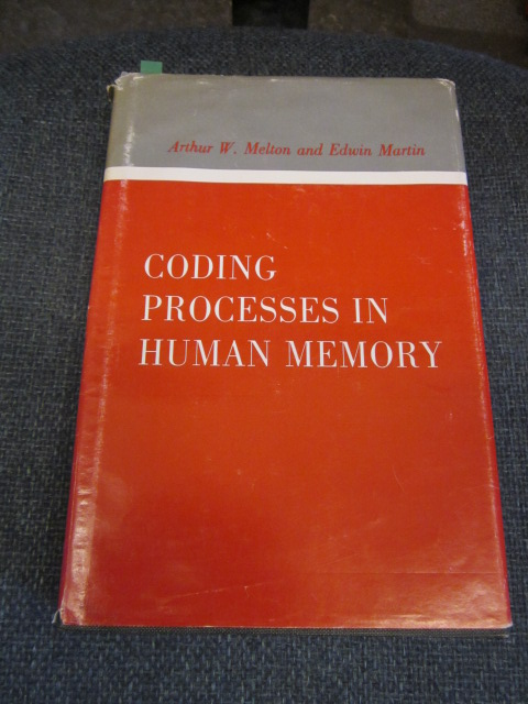 Image for Coding Processes in Human Memory.