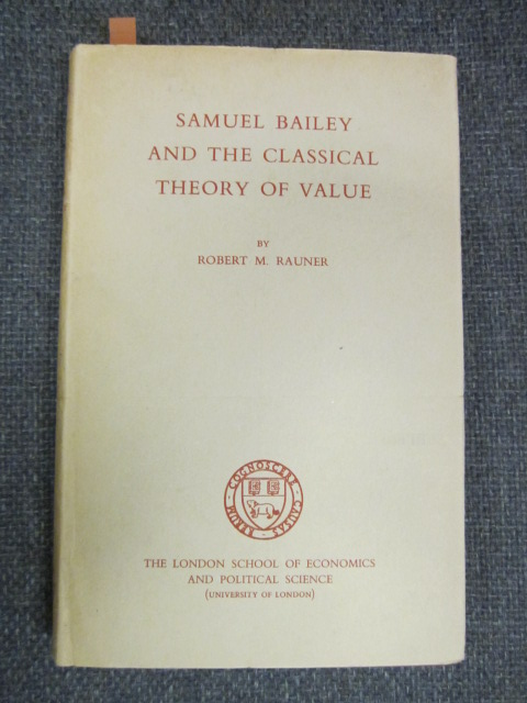 Image for Samuel Bailey and the Classical Theory of Value