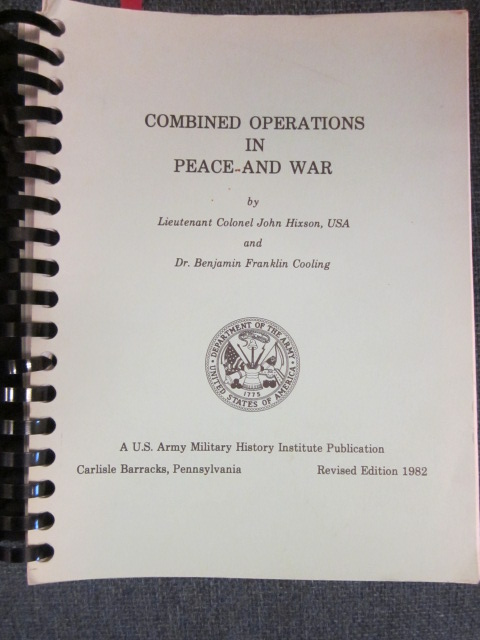 Image for Combined Operations in Peace and War