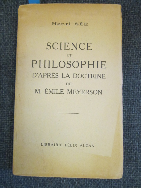 Image for Science et Philosophie d'Aprés la Doctrine de M. Émile Meyerson