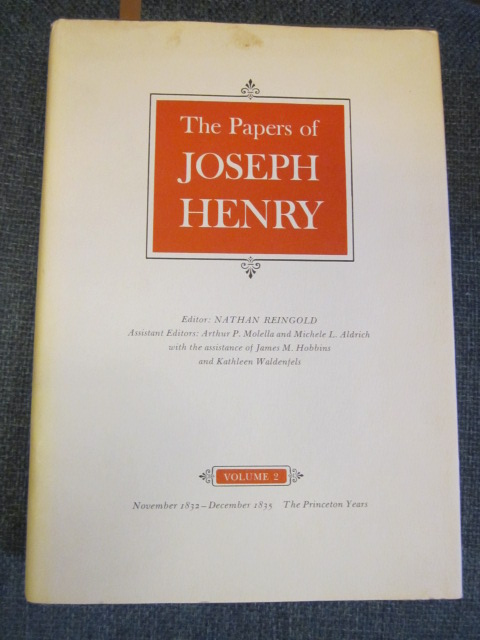 Image for The Papers of Joseph Henry, Vol.2 - November 1832-December 1835; The Princeton Years