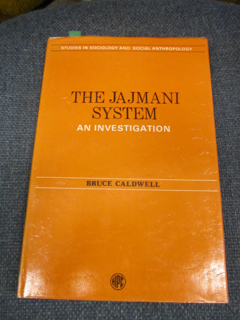 Image for The Jajmani System - an Investigation