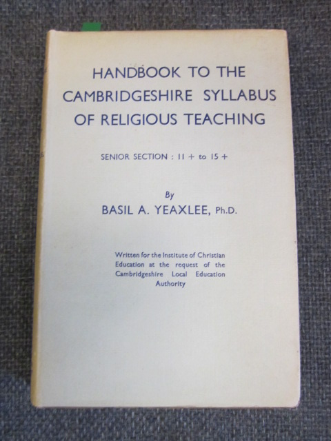 Image for Handbook to the Cambridgeshire Syllabus of Religious Teaching for Schools - Senior Section