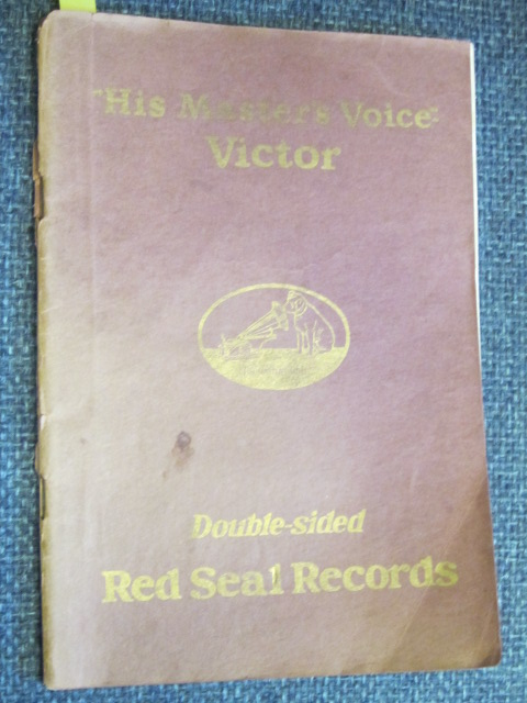 "Image for ""His Master's Voice"" Victor Double-sided Red Seal Records A Library of Famous Voices"