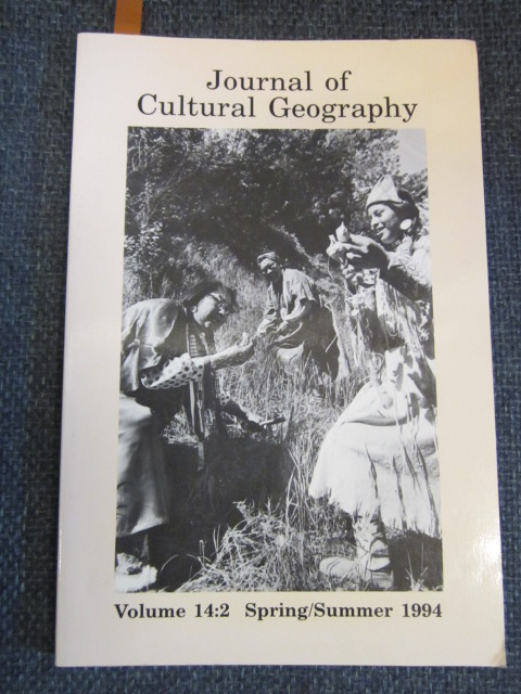 Image for Journal of Cultural Geography  Volume 14, No. 2