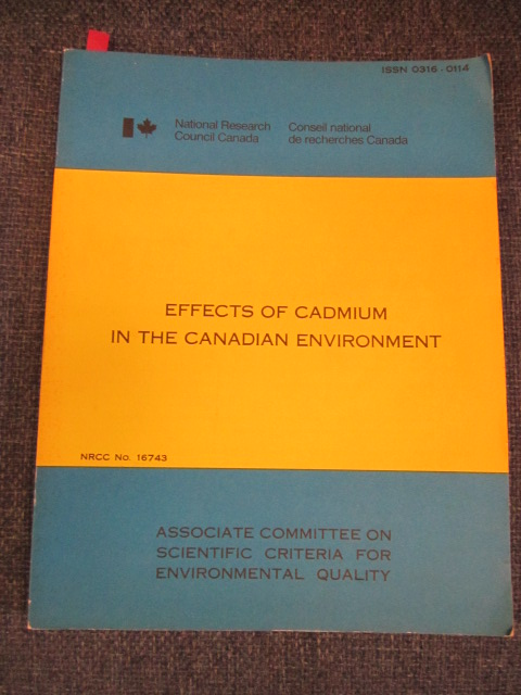 Image for Effects of Cadmium in the Canadian Environment
