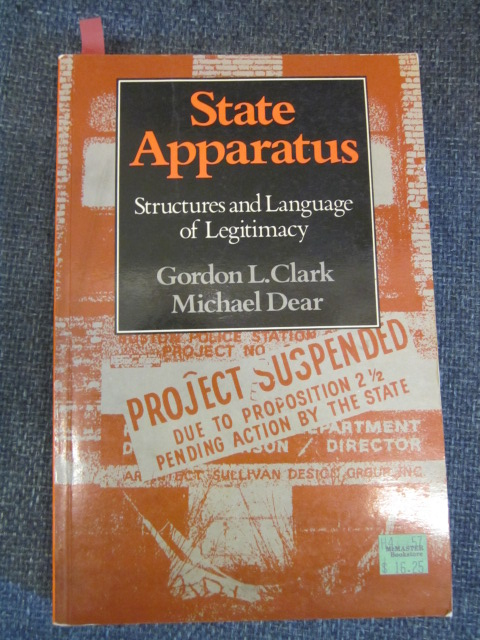 Image for State Apparatus: Structures and Language of Legitimacy
