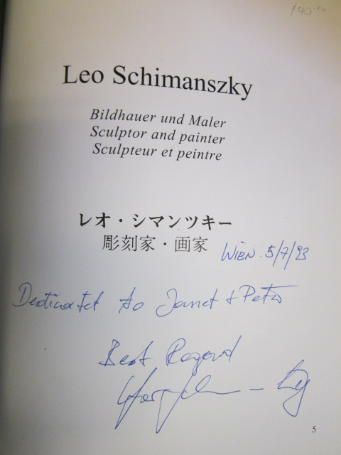 Image for Leo Schimanszky Bildhauer und maler/ Builder and Painter/ Sculpteur et peintre [Signed]