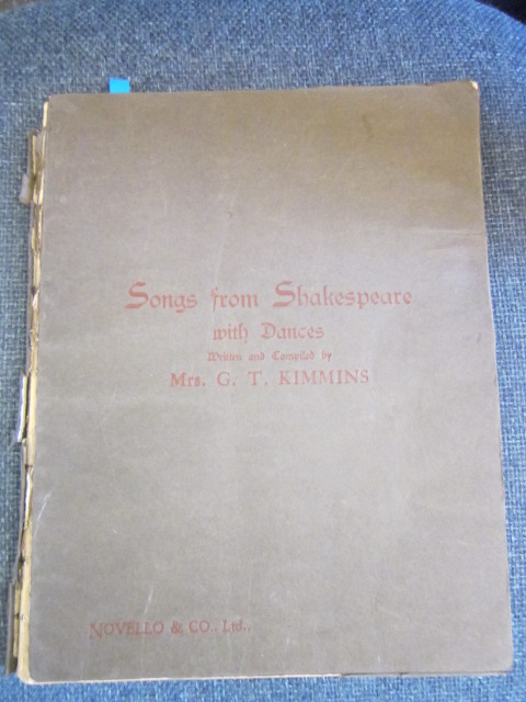 Image for Songs from the Plays of William Shakespeare with Dances
