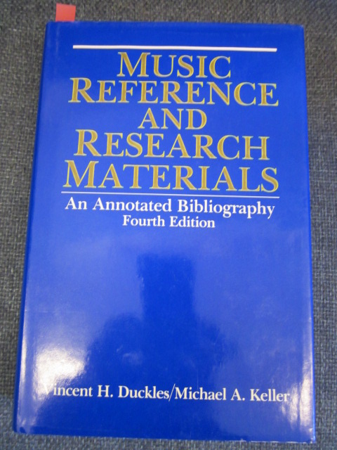 Image for Music Reference and Research Materials: An Annotated Bibliography