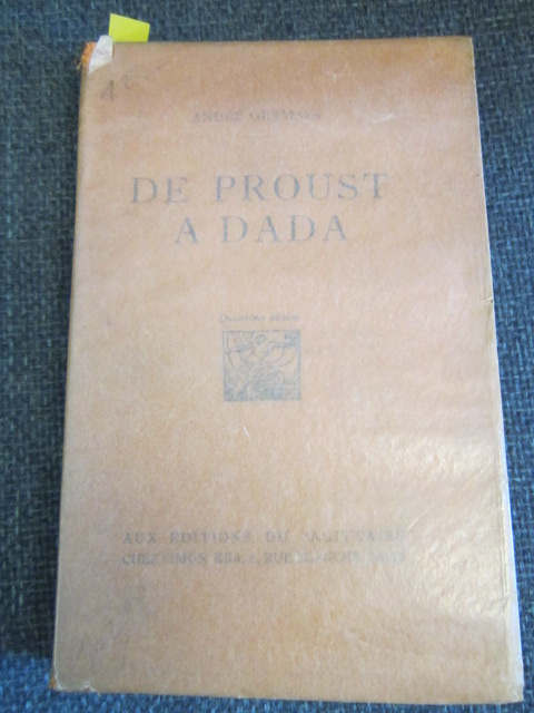 Image for De Proust a Dada