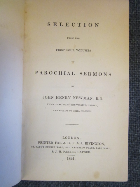 Image for Selection from the First Four Volumes of Parochial Sermons