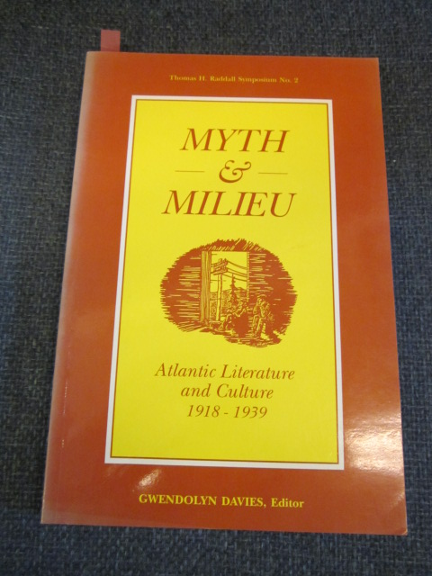 Image for Myth and Milieu: Atlantic Literature and Culture 1918-1939