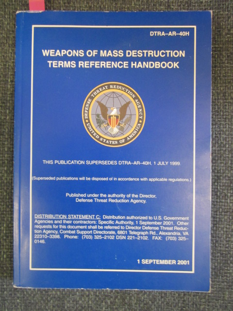 Image for Weapons of Mass Destruction Terms Reference Handbook