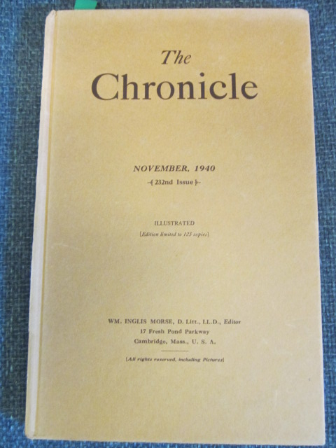 Image for The Chronicle, November 1940,  Number 232