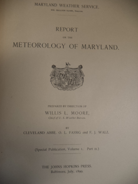 Image for Report on the Meteorology of Maryland