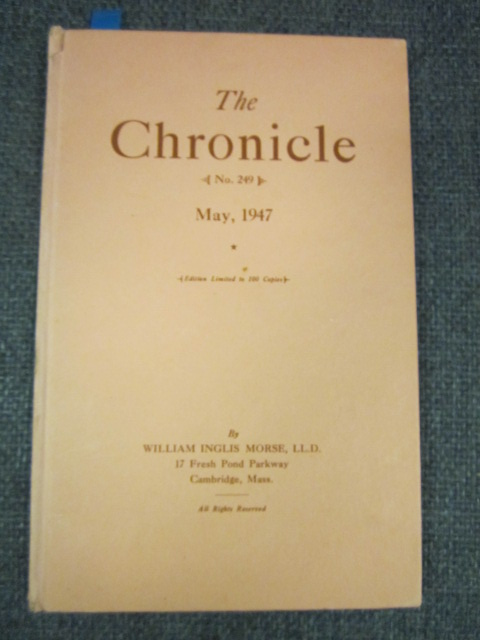 Image for The Chronicle, May, 1947,  Number 249