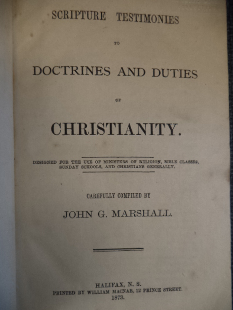 Image for Scripture Testimonies to Doctrines and Duties of Christianity