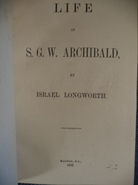 Image for Life of S.G.W. Archibald