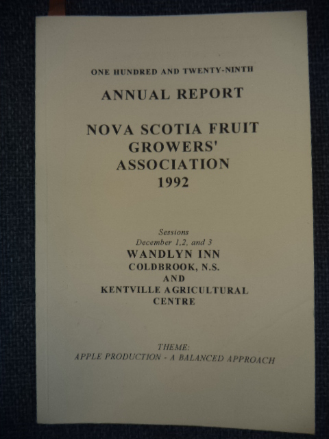 Image for One Hundred and Twenty-Ninth Annual Report of the Fruit Growers' Association of Nova Scotia: 1992
