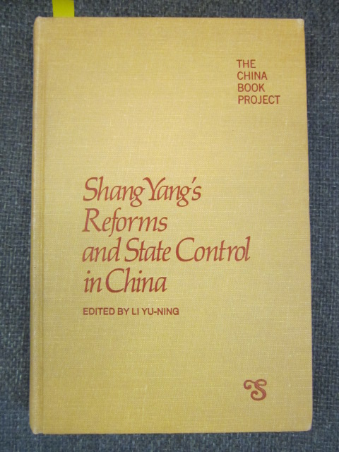 Image for Shang Yang's Reforms and State Control in China