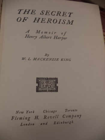Image for The Secret of Heroism. A Memoir of Henry Albert Harper. [with PM office stamp]