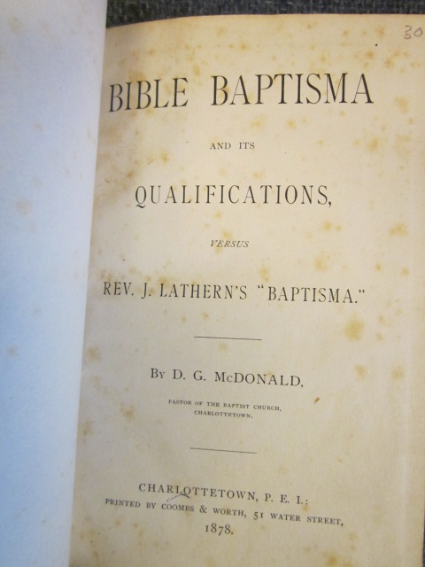 "Image for Bible Baptisma and its Qualifications versus J. Lathern's ""Baptisma"""