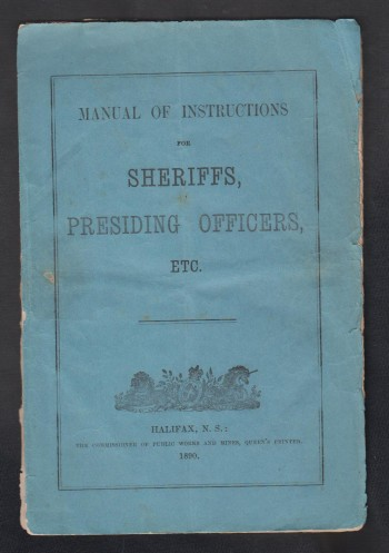 Image for Manual of Instructions for Sheriffs, Presiding Officers, ETC.