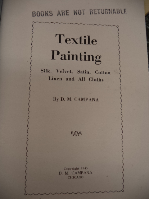 Image for Textile Painting. Silk, Velvet, Satin, Cotton, Linen and All Cloths