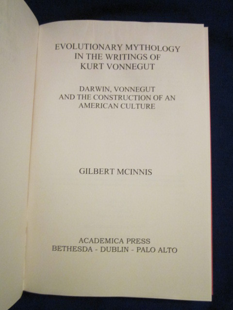Image for Evolutionary Mythology in the Writings of Kurt Vonnegut: Darwin, Vonnegut and the Construction of an American Culture