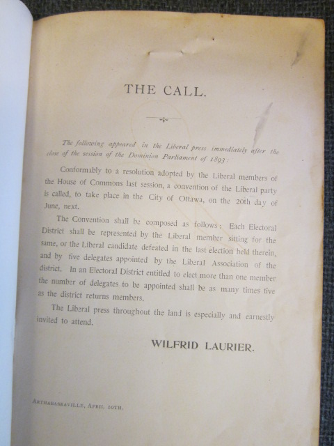 Image for Official Report of the Liberal Convention : held in response to the call of Hon. Wilfrid Laurier, leader of the Liberal Party of the Dominion of Canada : Ottawa, Tuesday, June 20th and Wednesday, June 21st, 1893. First Edition