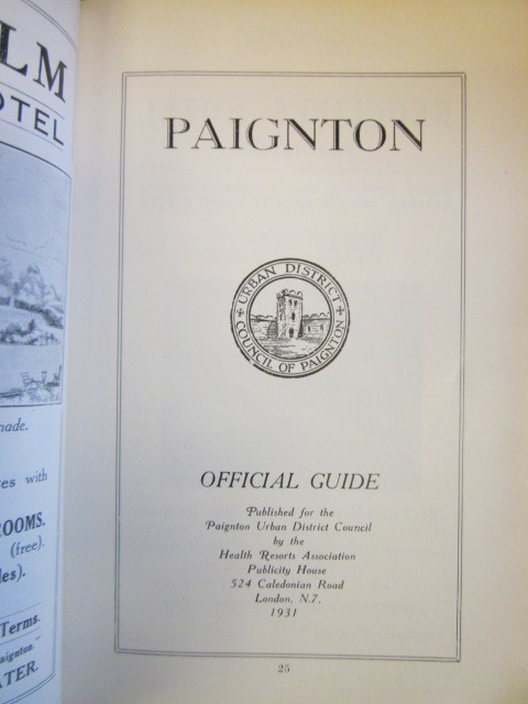 Image for PAIGNTON : Glorious South Devon. Official Guide, published for the Paignton Urban District Council, 1931