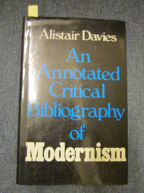 Image for An Annotated Critical Bibliography of Modernism
