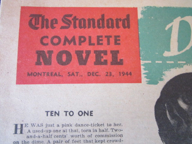 Image for DEADLINE at DAWN 1944 newspaper issue Montreal Standard