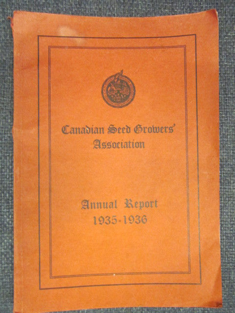Image for 1935 -1936 Canadian Seed Growers' Association Annual Report