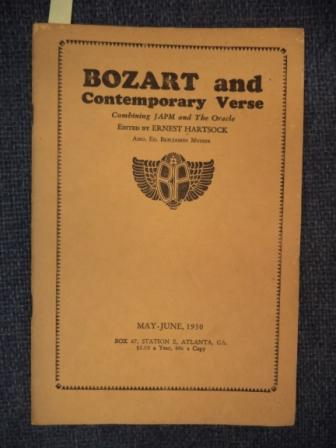 Image for Bozart and Contemporary Verse Combining Japm and The Oracle. May - June, 1930. Volume III Number 5.