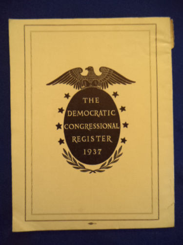 Image for The Democratic Congressional Register, 1937