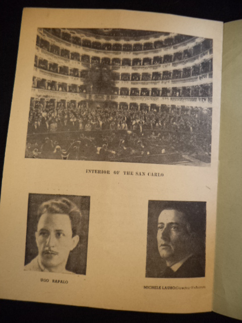 Image for 5 WW2 Naples / Napoli TEATRO DI SAN CARLO Opera programs British Military Authority