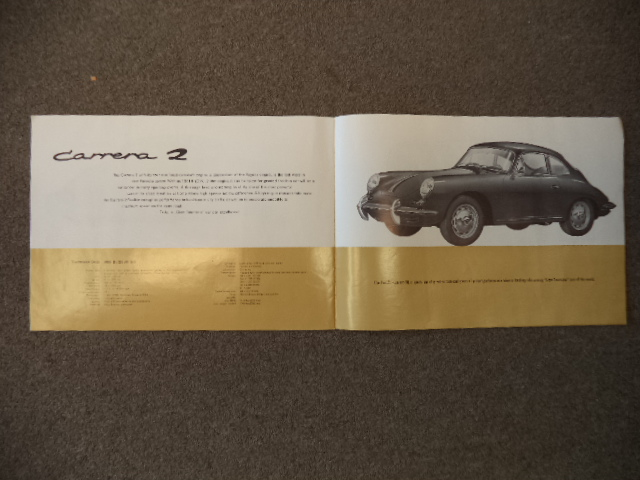 Image for PORSCHE Type 356B 1962 16 pg Brochure Coupe Hardtop Cabriolet Carrera 2 18M9/61