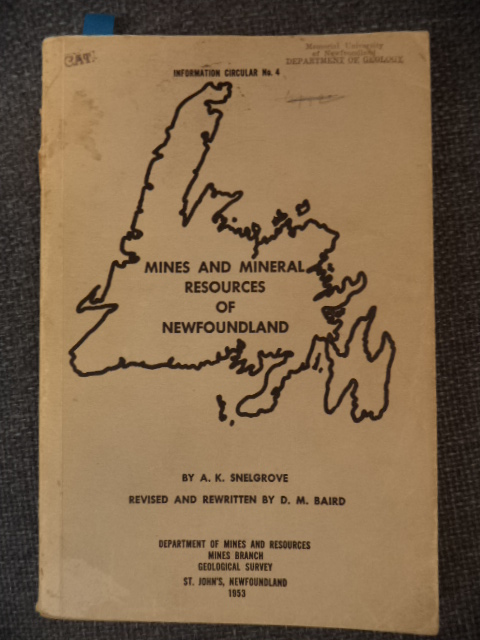 Image for Mines and Mineral Resources of Newfoundland