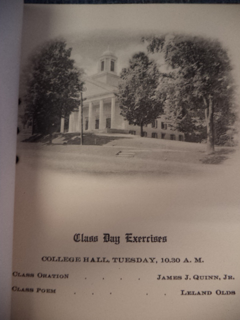 Image for Three consecutive issues of Amherst College Class Day booklets: 1910, 1911, 1912.