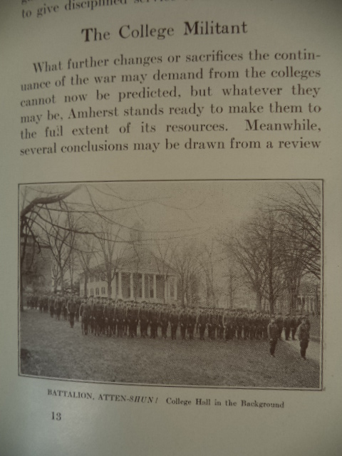 Image for Amherst In The War [ Bulletins of Amherst College Volume 7; Bulletin Number 3; June, 1918 ]
