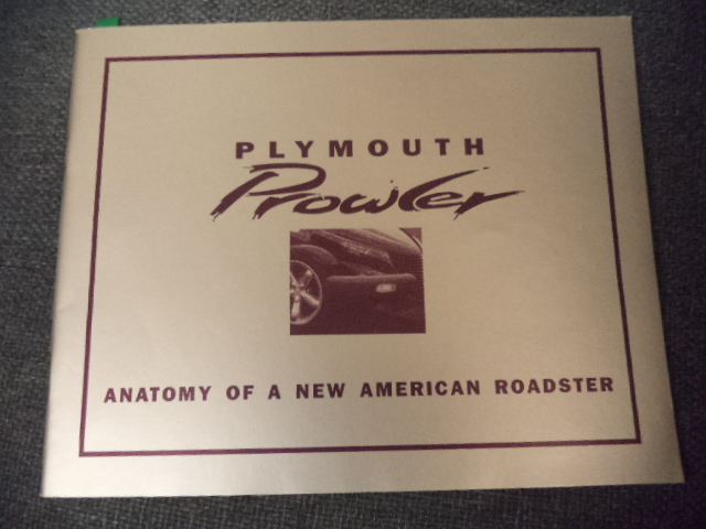Image for Plymouth Prowler: Anatomy of a New American Roadster