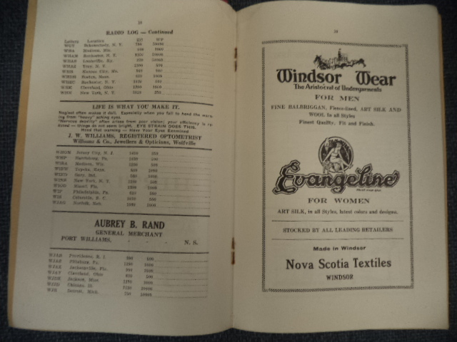Image for Annapolis Valley Business Directory and Radio Log. 1934 - 35  Comprising Home Buyer's Guide, Radio Log, Bridge Rules, Train and Boat Schedules