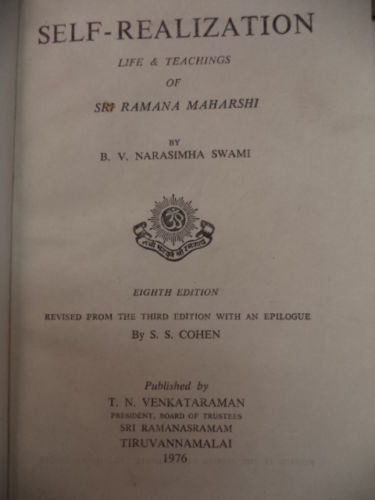 Image for Self-Realization: Life & Teachings of Sri Ramana Maharshi