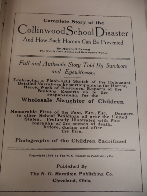 Image for Complete Story of the Collinwood School Disaster and How Such Horrors Can Be Prevented