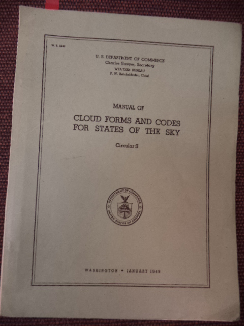 Image for Manual of Cloud Forms and Codes for States of the Sky Circular S