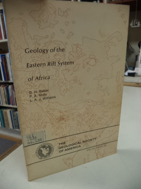Image for Geology of the Eastern Rift System of Africa (Geological Society of America. Special paper 136)