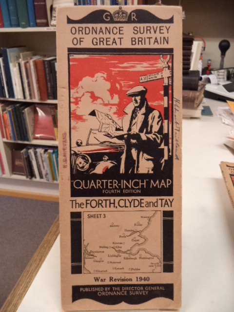 "Image for The Forth, Clyde and Tay. Sheet 3. Ordnance Survey of Great Britain. War Revision 1940. ""Quarter Inch"" Map. Fourth Edition"